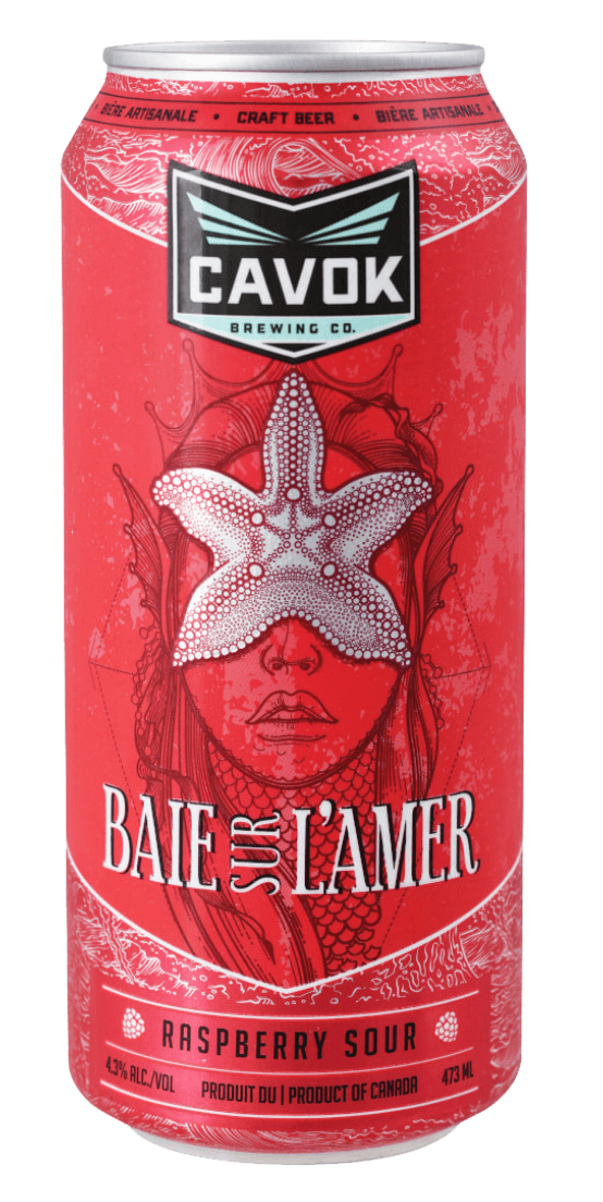 "visual of ""Baie sur l'amer"" beer can"