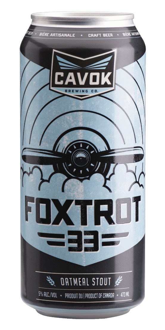 "Visual of ""Foxtrot 33"" beer can"