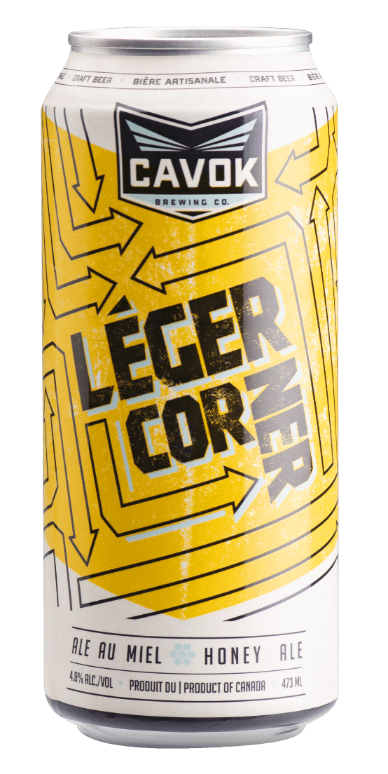 "Visual of ""Léger corner"" beer can"