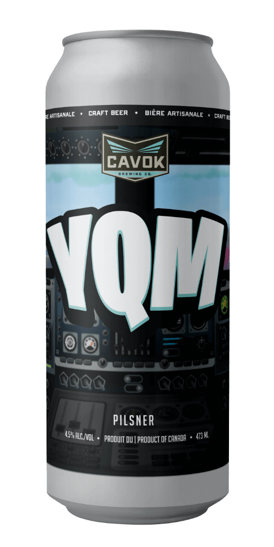 "visual of  ""YQM"" beer can"
